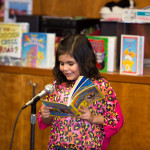Girl Book and Microphone