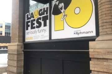 LaughFest Central Outside Window
